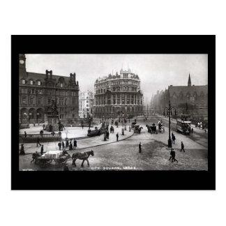 Den gammala vykortet, stad kvadrerar, Leeds Vykort