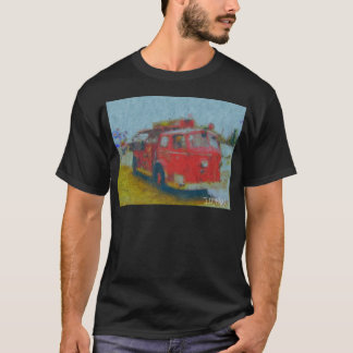 den gammala wawaen avfyrar lastbilen vid harten tee shirts