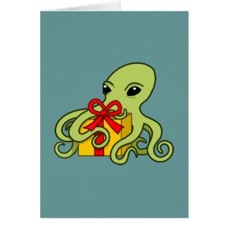 Den ge bläckfisken hälsningskort