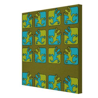 Den gecko-/ödlakanvastrycket, skräddarsy canvastryck