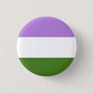 Den Genderqueer prideflagga knäppas Mini Knapp Rund 3.2 Cm