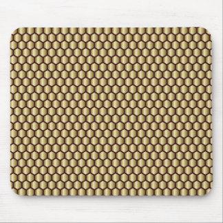 Den geometriska guld- honungskakan belägger med musmatta