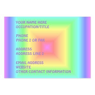 Den geometriska ljusa Retro pastellfärgade regnbåg Visitkort Mallar