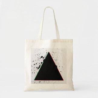 Den geometriska svart triangeln målar Splatters Budget Tygkasse