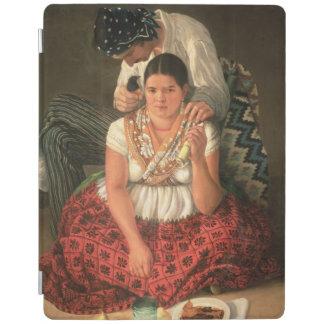 Den Gipsypojken och flickan, (olja på kanfas) iPad Skydd