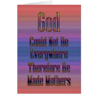 Den gjorda guden fostrar kortet hälsningskort
