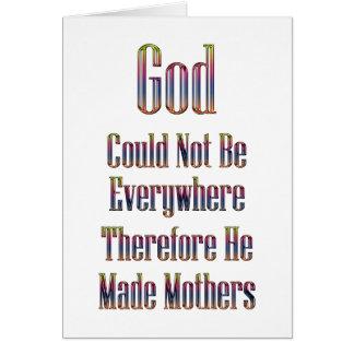 Den gjorda guden fostrar kortet (vit) hälsningskort