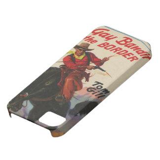 Den glada cowboyen på den westerna paperbacken iPhone 5 Case-Mate skal