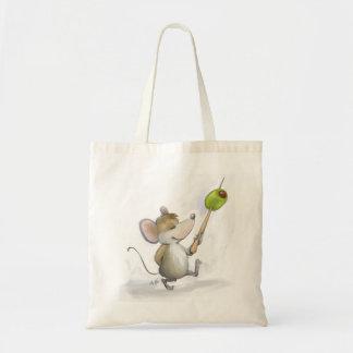 Den glada musen Moe med oliv hänger lös Tygkasse