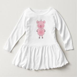 Den gladlynt rosa gristecknaden rufsar klänningen t-shirts