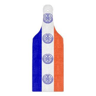 Den Glass skärbrädan paddlar med den New York City