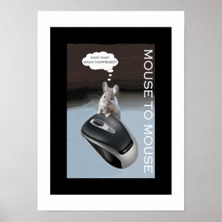 Den gnälliga musen möter datormusen poster