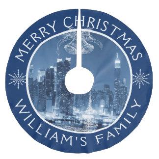 Den god julNew York City vintern landskap Julgransmatta Borstad Polyester