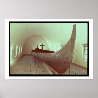 Den Gokstad longshipen (trä) Print