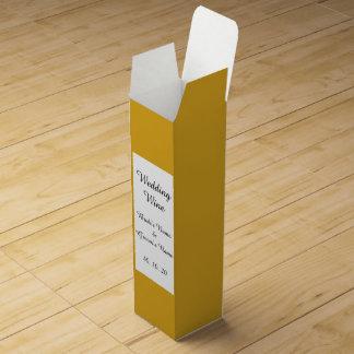 Den Goldenrod kicken avslutar kulört Förpackning För Vinflaska