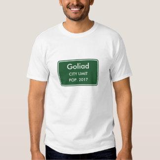 Den Goliad Texas staden begränsar undertecknar T-shirt