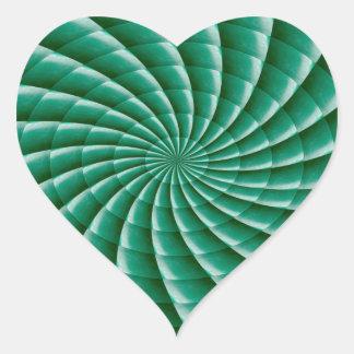 Den GoodLUCK Chakra Mandalagnistran vinkar den Hjärtformat Klistermärke