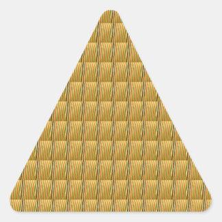 Den Goodluck kristallen belägger med tegel DIY Triangelformat Klistermärke
