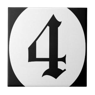 Den gotiska adressen numrerar cirklar kakelplatta