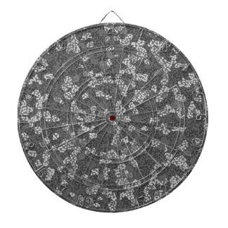 Den gråa abstrakt blom- Dartboardpilen stiger ombo Piltavla
