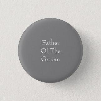 Den gråa fadern av brudgummen knäppas mini knapp rund 3.2 cm