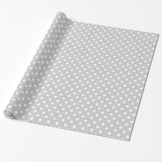 Den gråa polkaen pricker presentpapper
