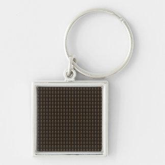 Den grafiska mallen DIY tillfogar Fyrkantig Silverfärgad Nyckelring