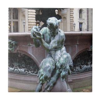 Den grekiska guden panorerar kakelplatta