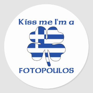 Den grekiska personligen kysser mig I-förmiddagen Runda Klistermärken