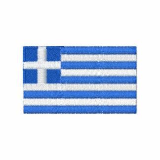 Den Grekland flagga broderade manar t-skjorta