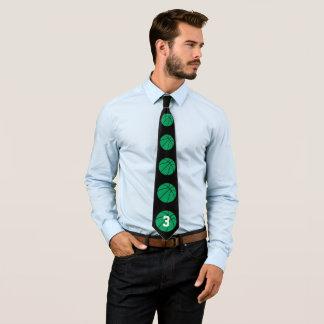 Den gröna baskettränare-/spelareanpassningsbar slips