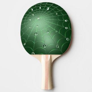 Den gröna Cobwebpingen Pong paddlar Pingisracket