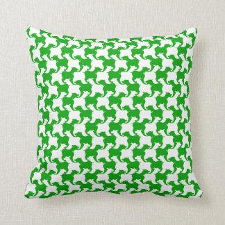 Den gröna fauxen Houndstooth väljer färg kudder Kudde