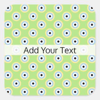 Den gröna kombinationen cirklar vid Shirley Taylor Fyrkantigt Klistermärke