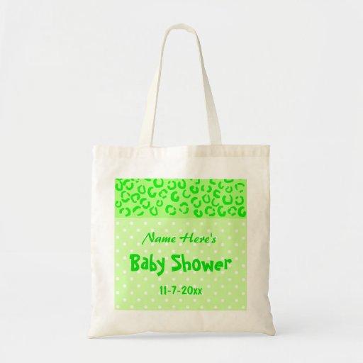 Den gröna leoparden och polkaen pricker baby showe kasse