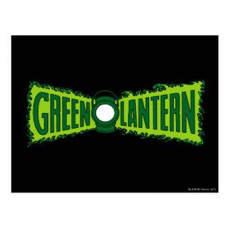 Den gröna logotypen flammar vykort