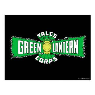 Den gröna lyktakåren - grön logotyp vykort