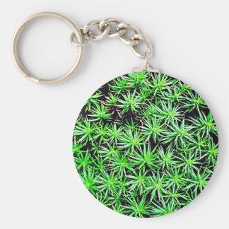 Den gröna naturen blad naturliga naturliga gröna t rund nyckelring