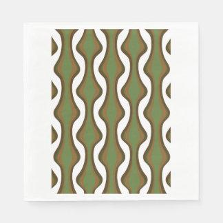 Den gröna och bruna lodrät vinkar pappersservett