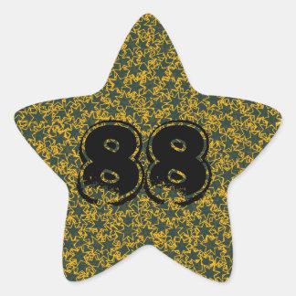 Den gröna och guld- spelare för stjärnalagsportar stjärnformat klistermärke