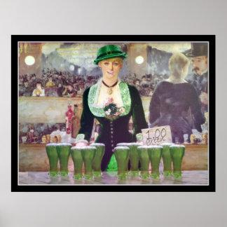 Den gröna ölen för Bartendersells $1 Poster
