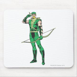 Den gröna pilen med uppsätta som mål musmatta