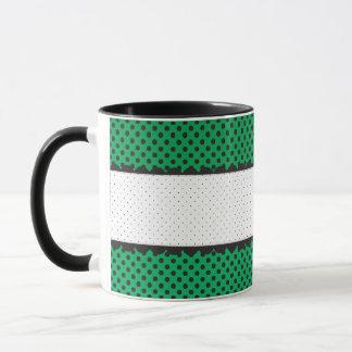 Den gröna polkaen pricker kammusslapersonlignamn mugg