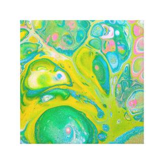 Den gröna Psychedelic akrylen häller konst Canvastryck