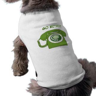 Den gröna Retro stilvisartavlan ringer - gå Retro! Långärmad Hundtöja