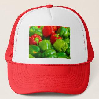 Den gröna röda spansk pepparstadsbonden truckerkeps