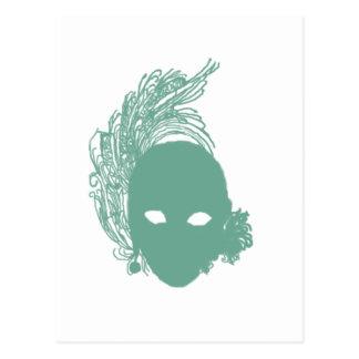 Den gröna scenisken maskerar vykort