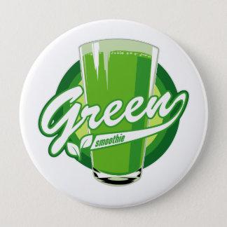 Den gröna smoothien knäppas stor knapp rund 10.2 cm