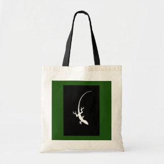 Den gröna & svart ödlatotot hänger lös tygkasse