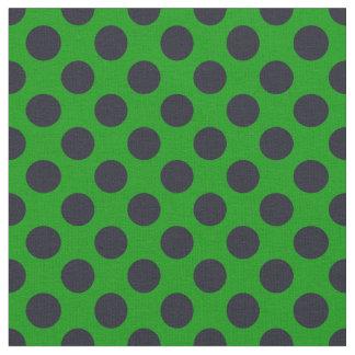 Den gröna & svart polkaen pricker tyg